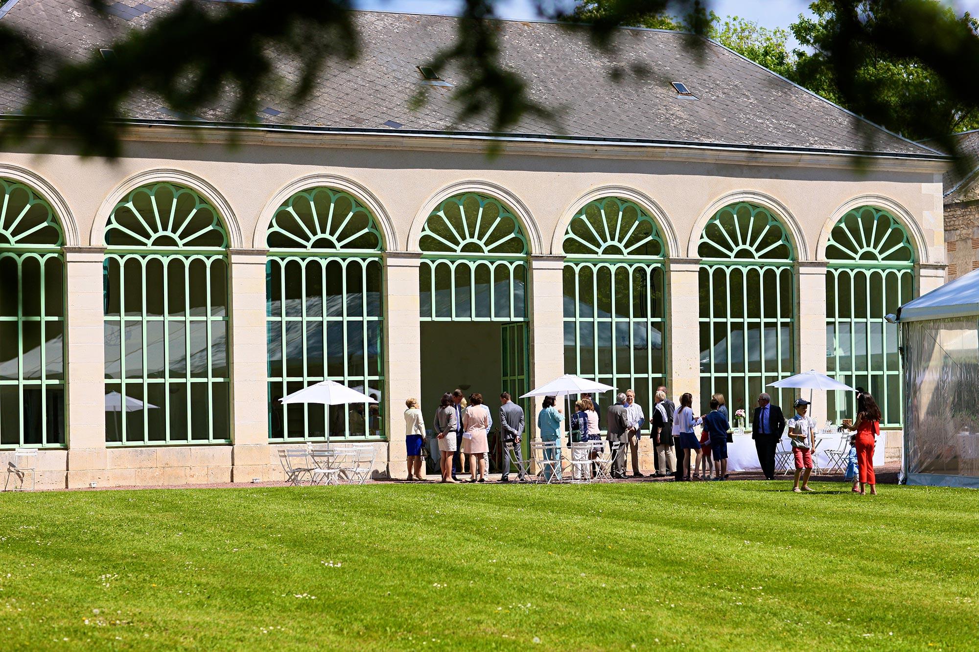 Célébration d'un mariage dans le parc classé du Domaine de la Fontaine